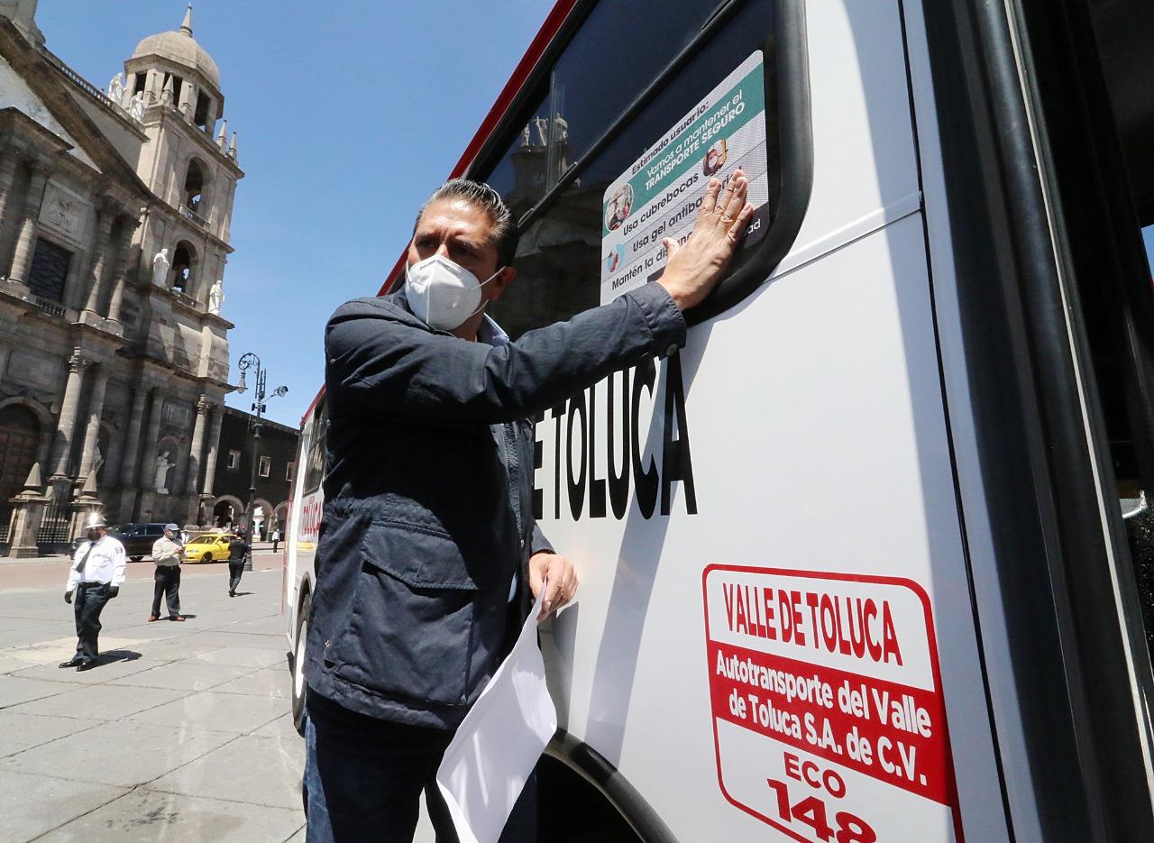 Inicia Toluca programa Transporte Seguro para cuidar la salud de todos