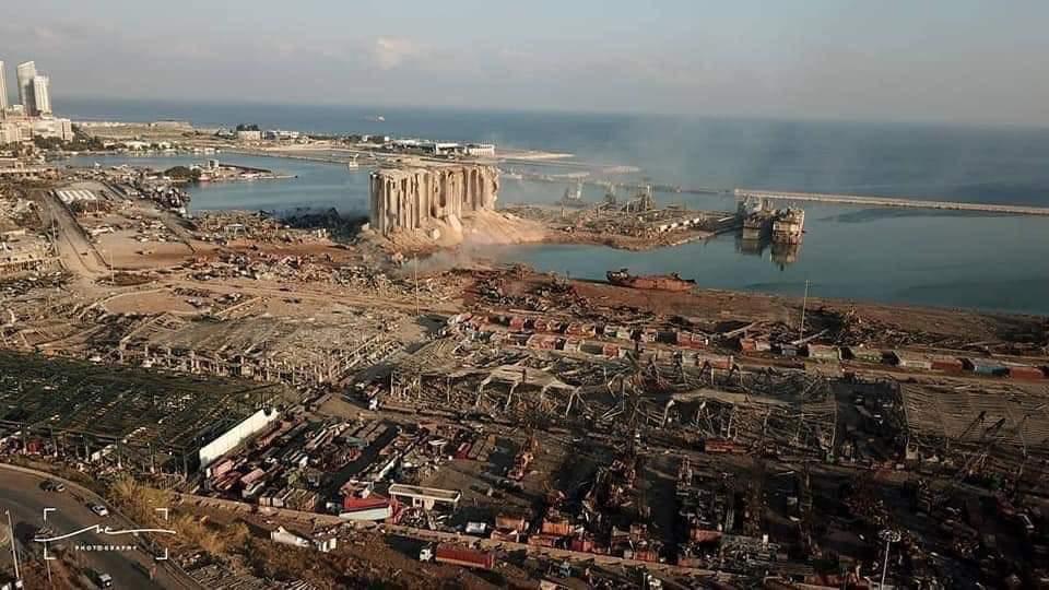 Devastación tras potente explosión en Beirut, Líbano