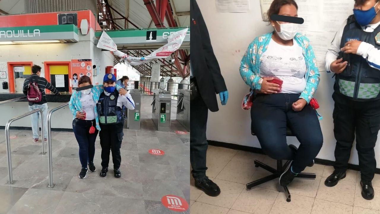Mujer es apuñalada en vagón de la Línea B del Metro
