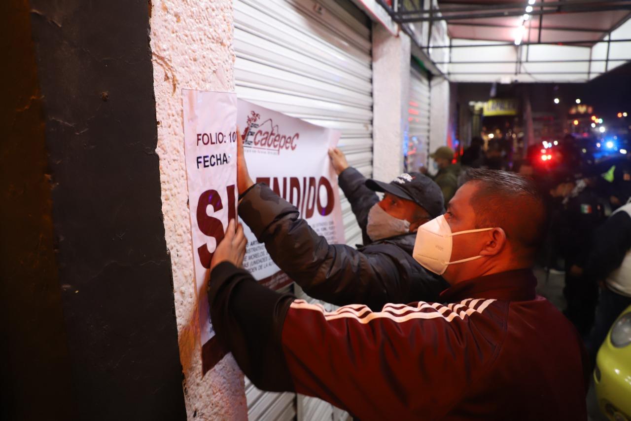 Autoridades de Ecatepec dispersan 6 fiestas y desalojan a más de 300 asistentes para prevenir contagios de Covid-19