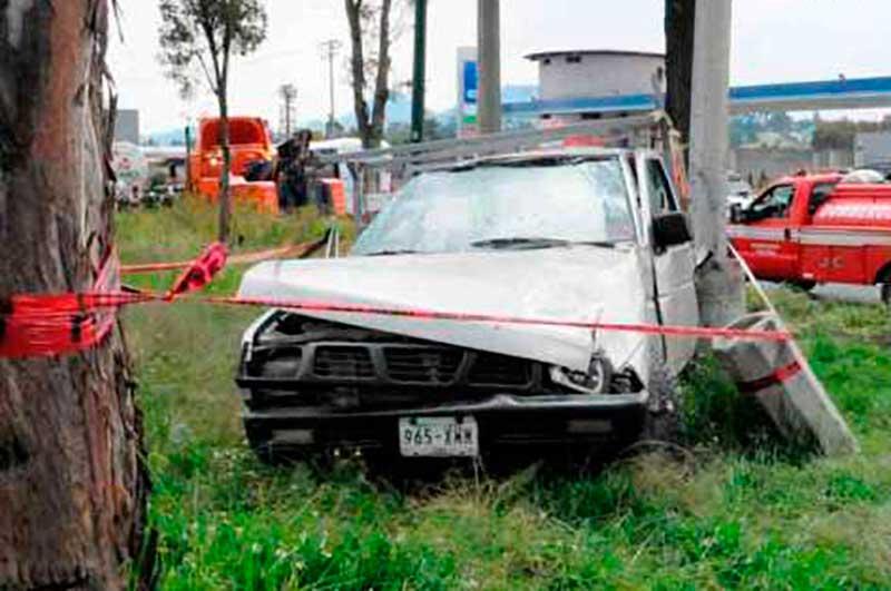 Seis lesionados dejó un choque en la Aviación Autopan en Toluca
