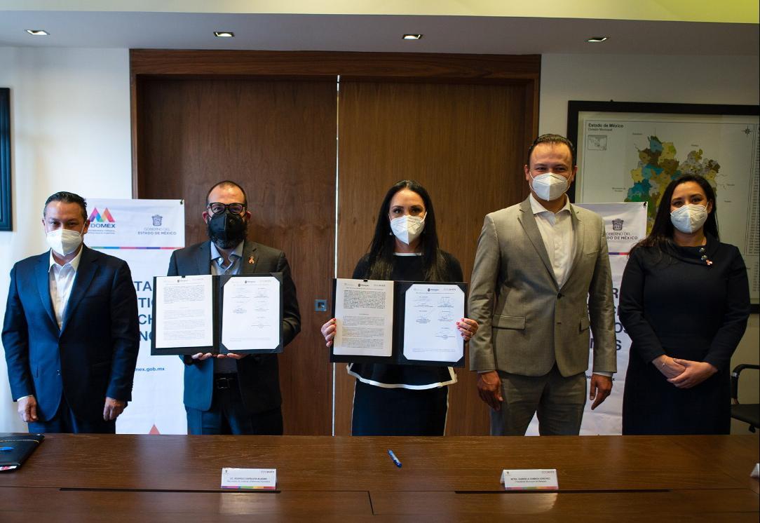 Firma Ayuntamiento de Metepec Convenio de Coordinación con Secretaría de Justicia y Derechos Humanos