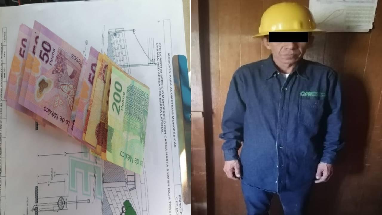 Policías de Ecatepec detienen a sujeto que se hacía pasar como trabajador de CFE para extorsionar a vecinos