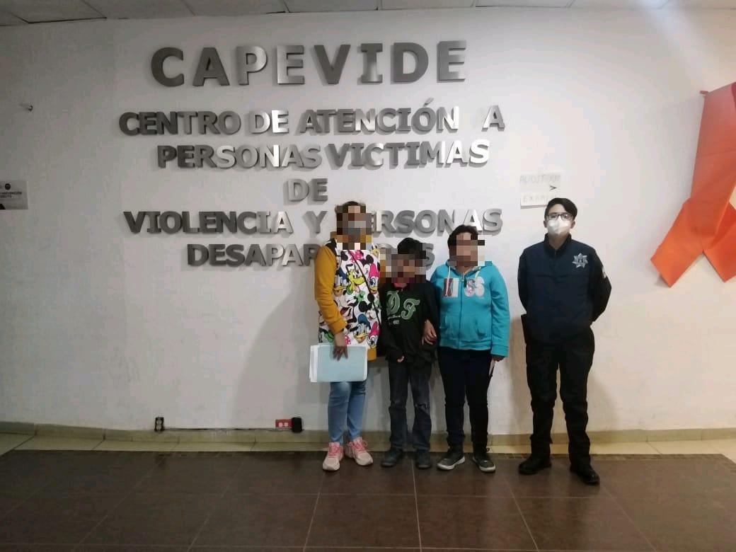 Célula de Búsqueda de Personas de Ecatepec localiza y reintegra a sus familias a dos niños reportados como extraviados