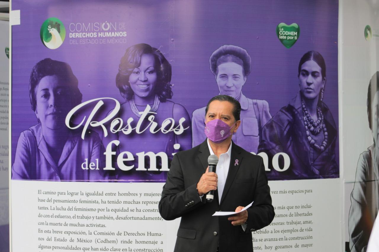 """Con el pabellón itinerante """"Rostros del Feminismo, Codhem promueve el pensamiento contemporáneo a favor de las mujeres"""