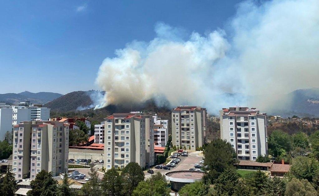 Domingo de incendios forestales en el Edomex