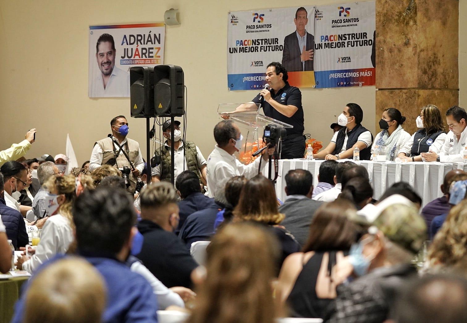 Las y los candidatos de la Alianza va por el Edoméx de Tlalnepantla tienen todo el respaldo del PAN: Enrique Vargas del Villar