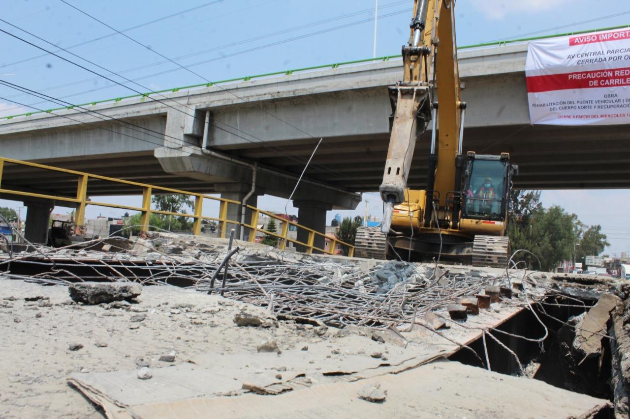 Gobierno de Ecatepec invierte de 17 mdp para reconstruir puente vehicular dañado y garantizar seguridad de automovilistas