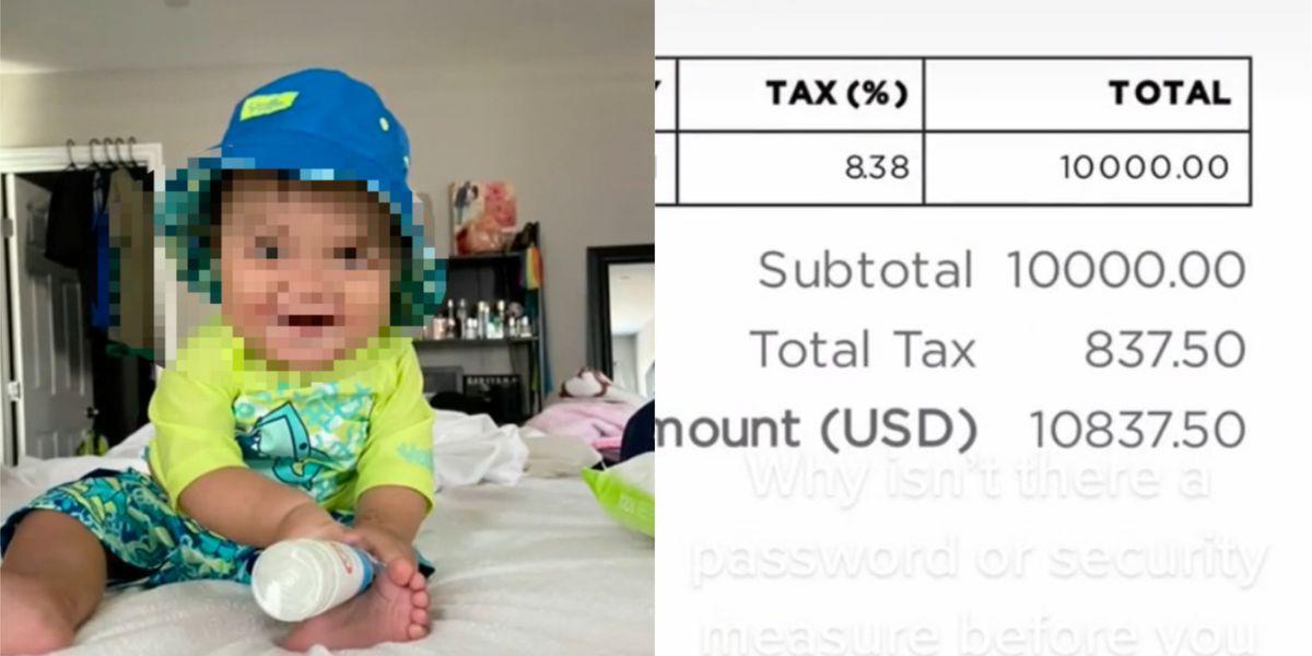 ¡Increíble! Bebé compra desde la tablet de su madre un paquete de 200 mil pesos para auto de lujo