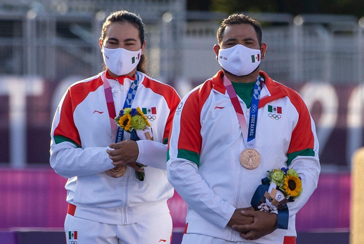 México gana medalla de Bronce en Tiro con Arco Mixto