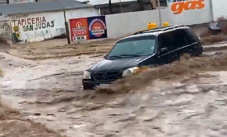 Torrenciales lluvias en Nogales provocan cuantiosos daños