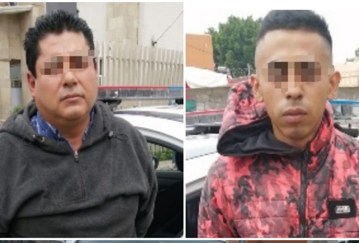 Policía de Ecatepec capturan a sujetos dedicados al robo de baterías de auto