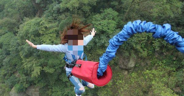 #Video mujer muere al caer al vacío sin cuerda de seguridad en salto bungee