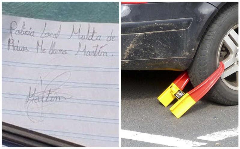 Multa niño a coche mal estacionado y se vuelve viral