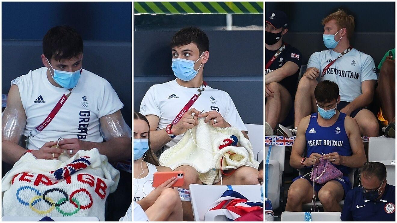 ¿Por qué un campeón olímpico teje desde las gradas en Tokio 2020?