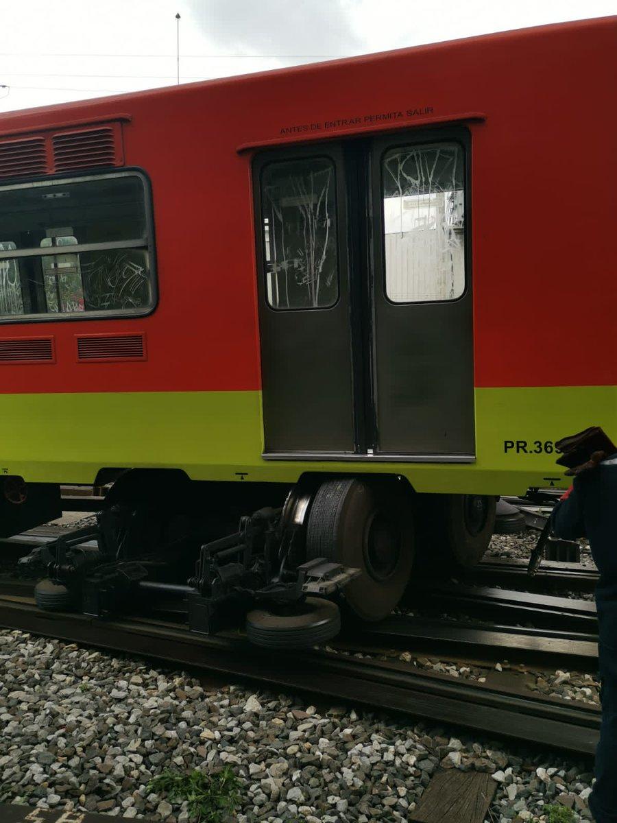 Descarrila el metro en las vías de los talleres de Ticomán