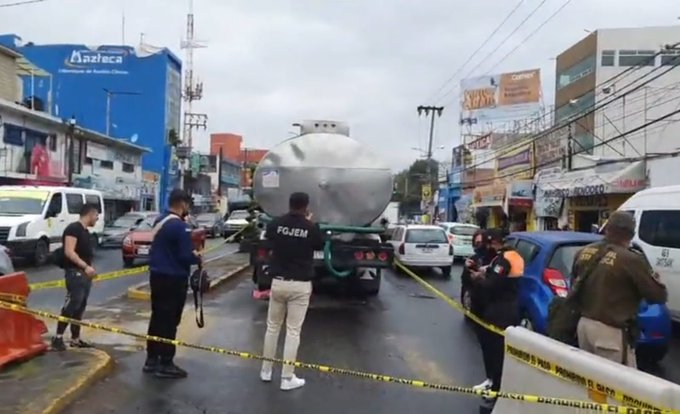#Video Pipa atropella a mujer y muere en Ixtapaluca