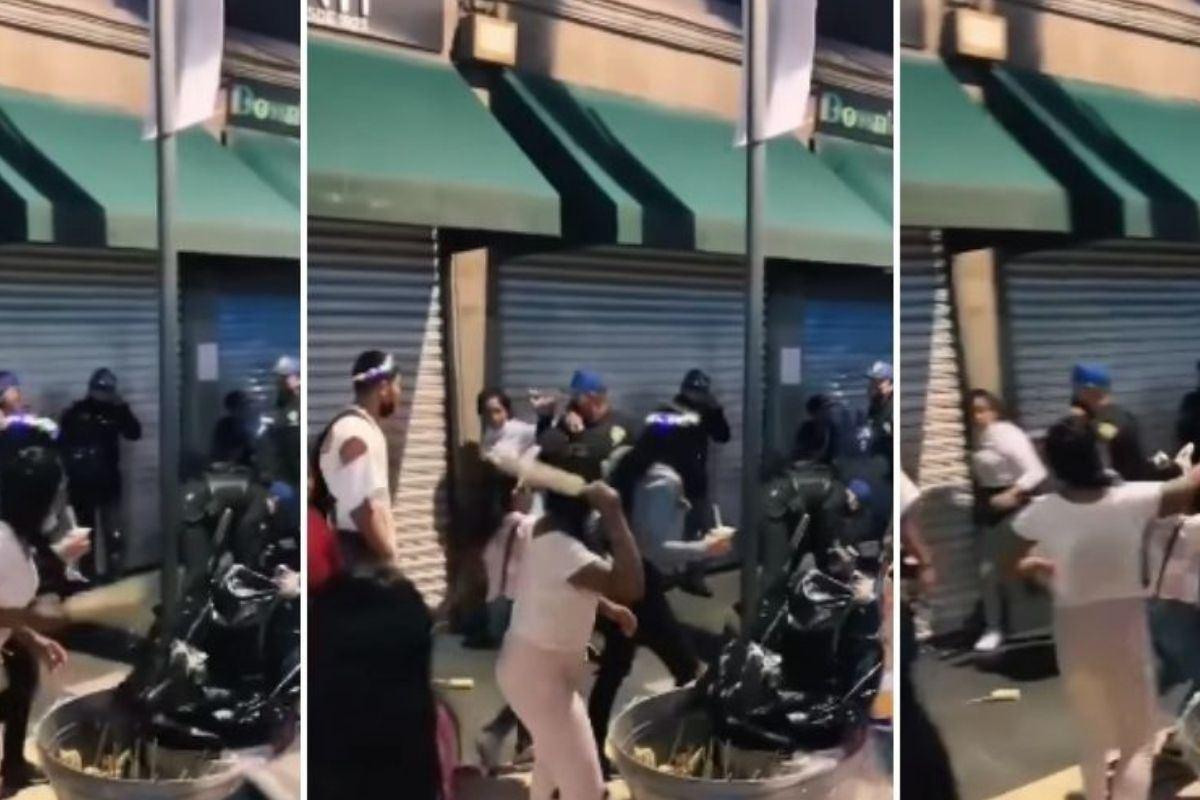 """#VIDEO A """"elotazos"""" mujer agrede a policías de la CDMX"""
