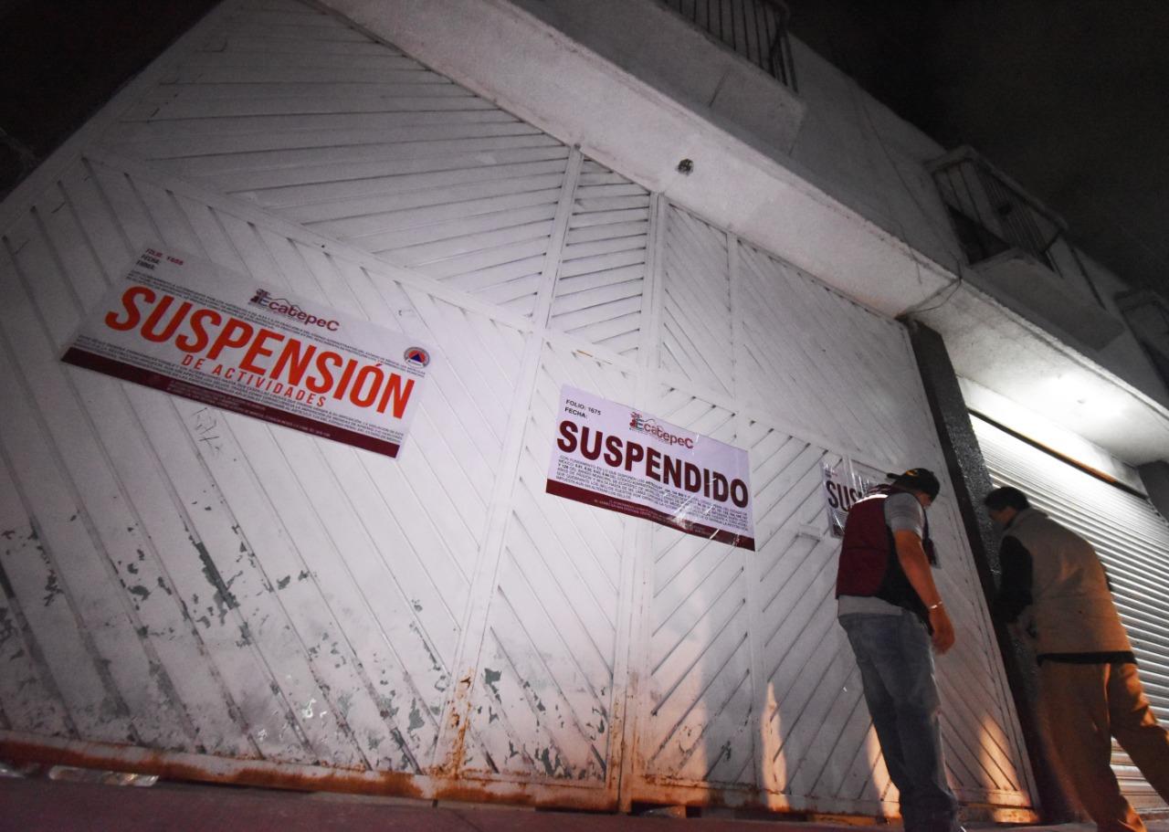 Ecatepec suspende un gimnasio y dos fiestas, en operativos para prevenir contagios de Covid-19