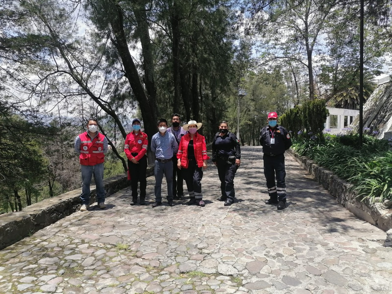 PC y Bomberos de Toluca monitorea cuerpos rocosos de El Calvario