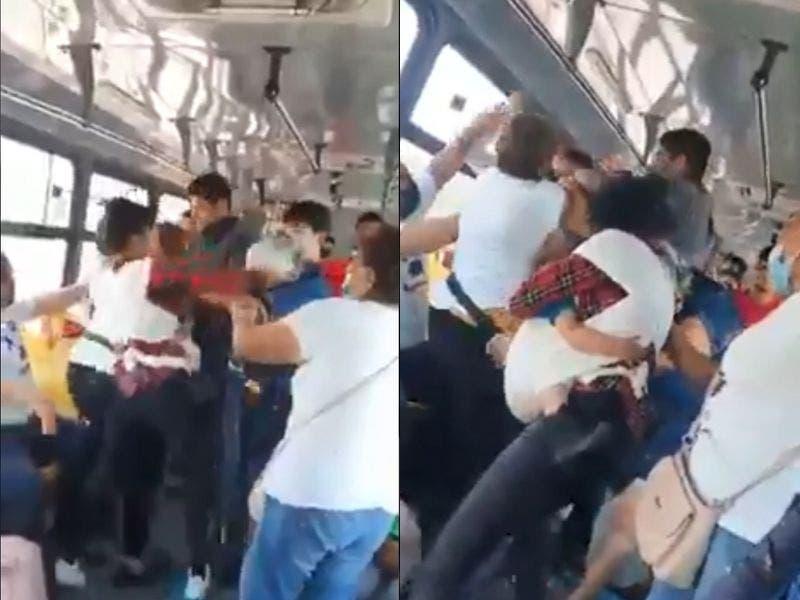 #VIDEO Mujer con niño en brazos se agarra a golpes con una anciana