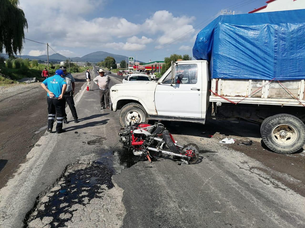 Muere motociclista al ser arrollado en Zinacantepec; el responsable se dio a la fuga