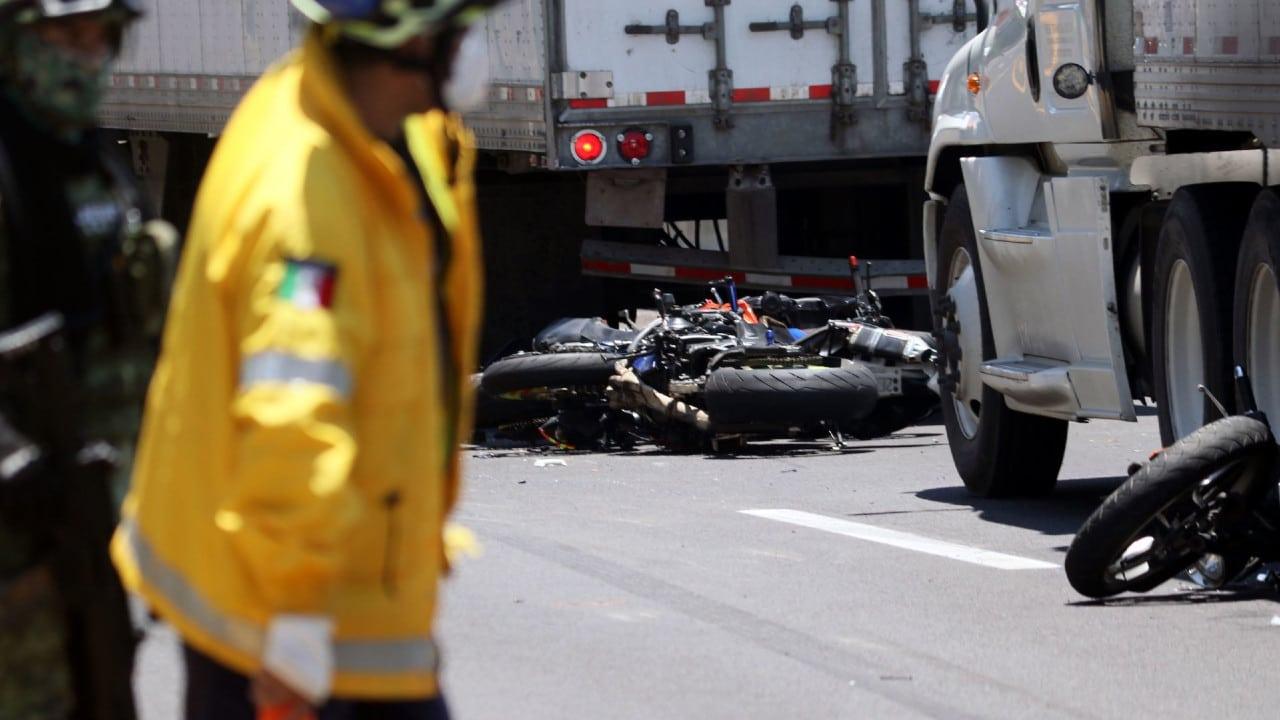 Graban en video el momento del accidente en la México - Cuernavaca