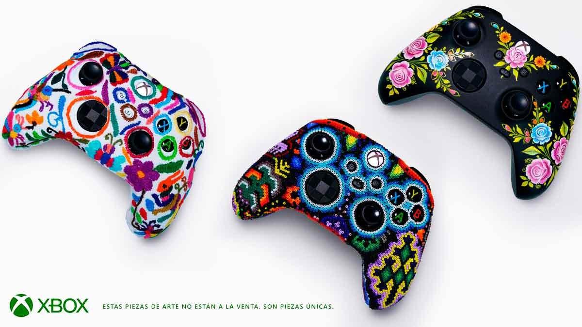 Presenta Xbox tres controles de colección con diseños de artesanos indígenas