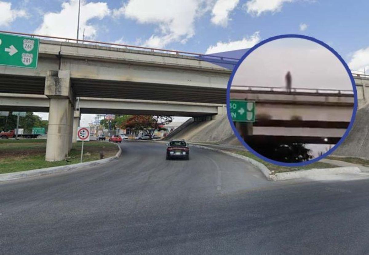 Joven intenta suicidarse; se tira de un puente del periférico de Mérida