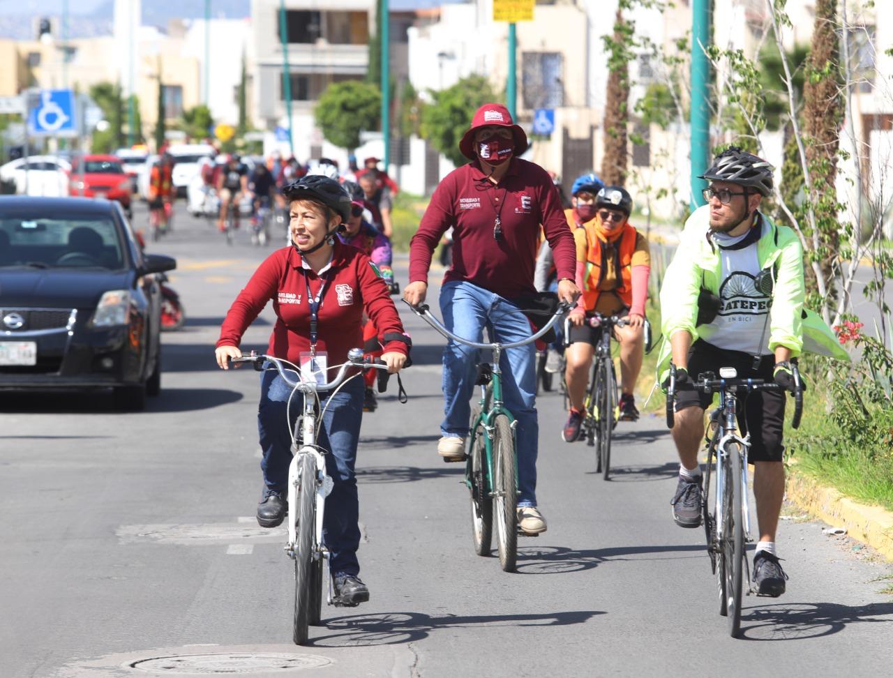 Ecatepec promueve uso de la bicicleta; celebra con rodada el Día Mundial sin Auto