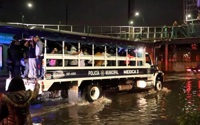 fuerte tormenta Ecatepec