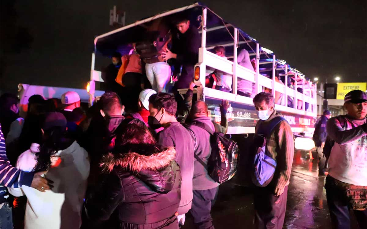 Ecatepec activan plan de emergencia por fuerte tormenta