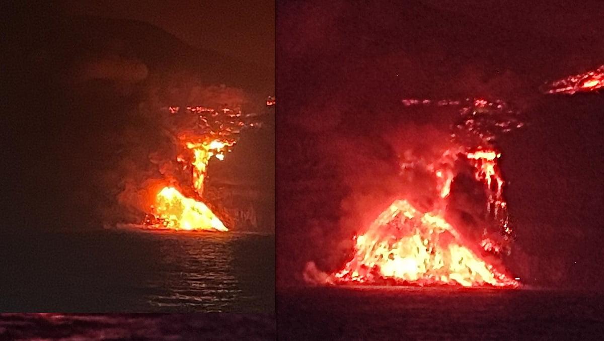 Tras 10 días de erupción del volcán en la Palma así llega la lava al mar (vídeo)