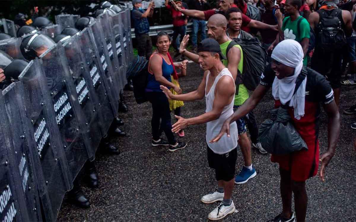 #Video Dispersan violentamente otra caravana de migrante en Chiapas