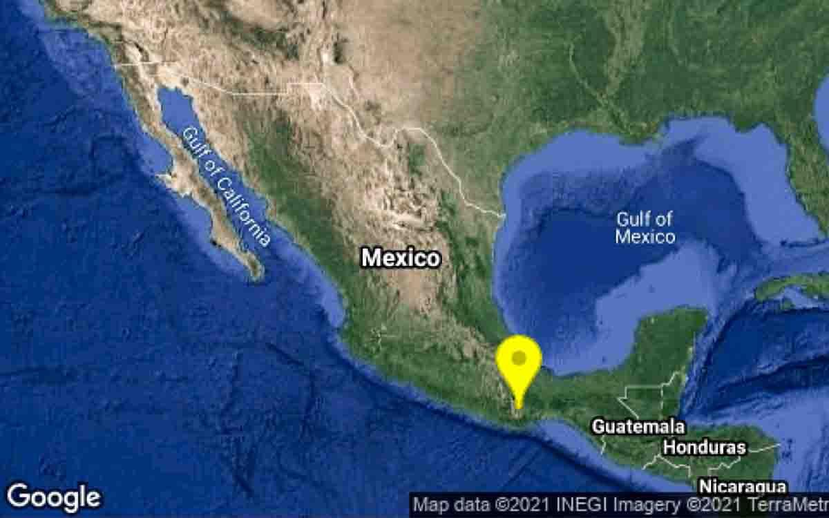 Se registra sismo de magnitud 4.9 se registra en Oaxaca