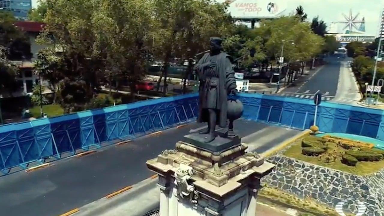 Escultura de mujer olmeca sustituirá a Cristóbal Colón en glorieta de Paseo de la Reforma