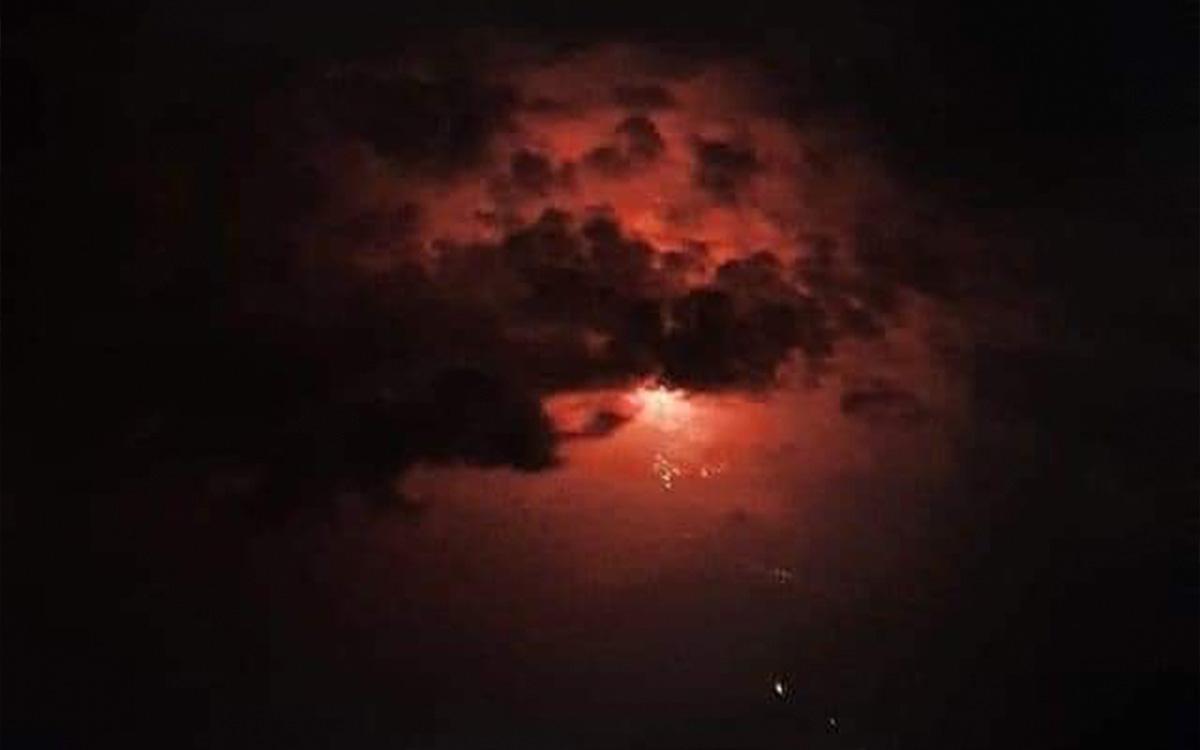 Extrañas luces rojas fueron captadas en Oaxaca