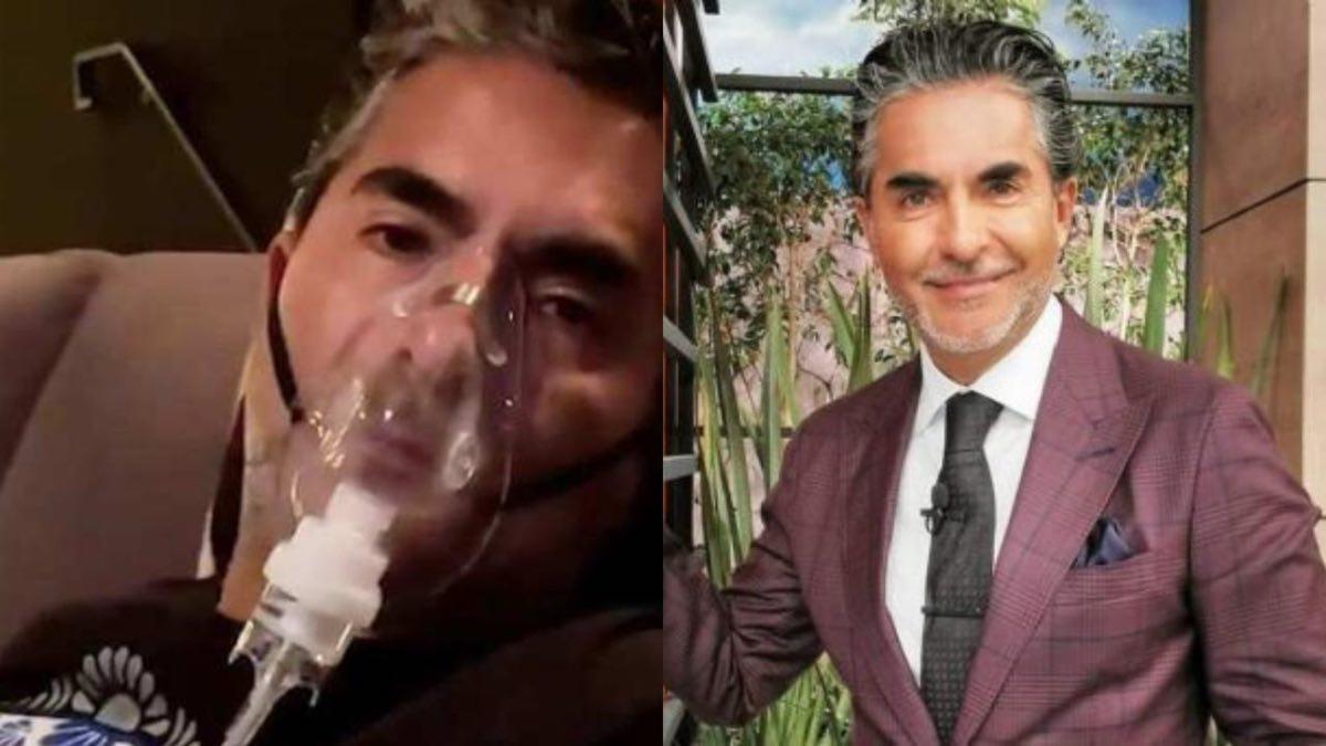 Raúl Araiza es conectado a un tanque de oxígeno tras complicaciones de salud