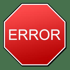 Errores, no los cometas, cuidado, advertencia, equivocacion