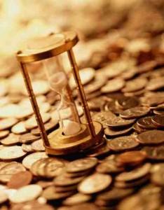 invertir, largo plazo, monedas, reloj de arena, dinero