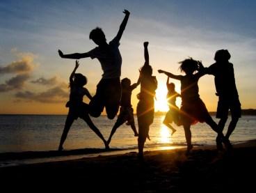 amigos, paisaje, playa, atardecer, fiesta, amigos del alma, hermanos