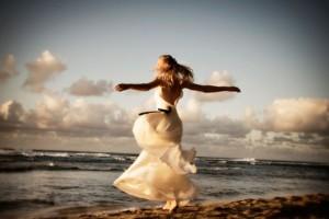 prosperidad, felicidad, autorrealización, playa, mujer, paisaje, mar