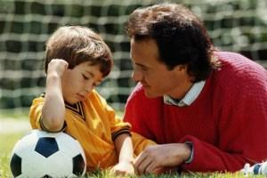 padre, hijo, futbol, padre sensato nunca diria