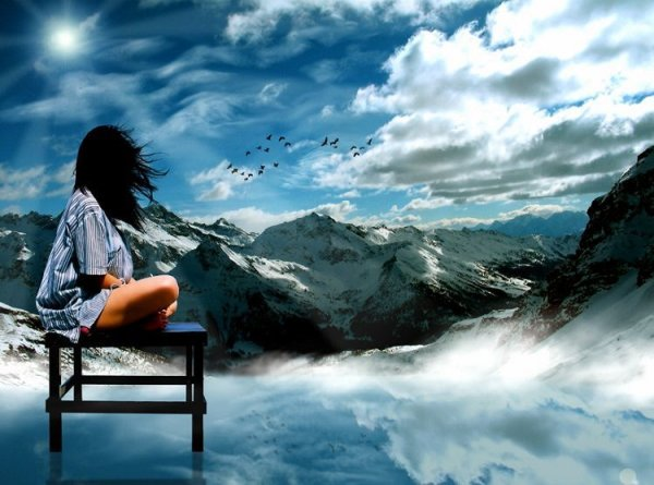 vida, manual, paisaje, montañas