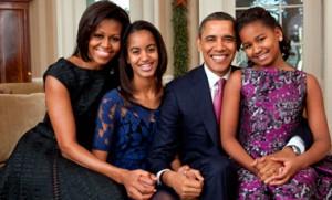 Barack Obama, familia, esposa, hijas