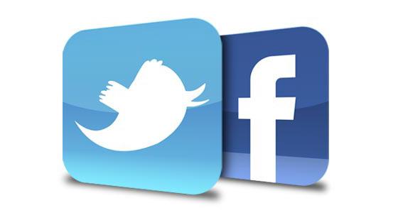 twitter, facebook, logo, frases