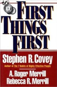 libro, primero lo primero, stephen r. covey