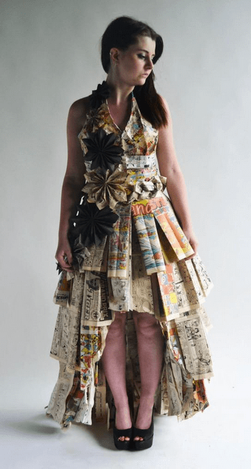 """""""I made this prom dress as part of my exam for my extended diploma in art and design; it took me around 3 months,"""" Stephanie told Seventeen.com. Her professor couldn't deny her awesomeness and gave her an A! ~CONGRATS~"""