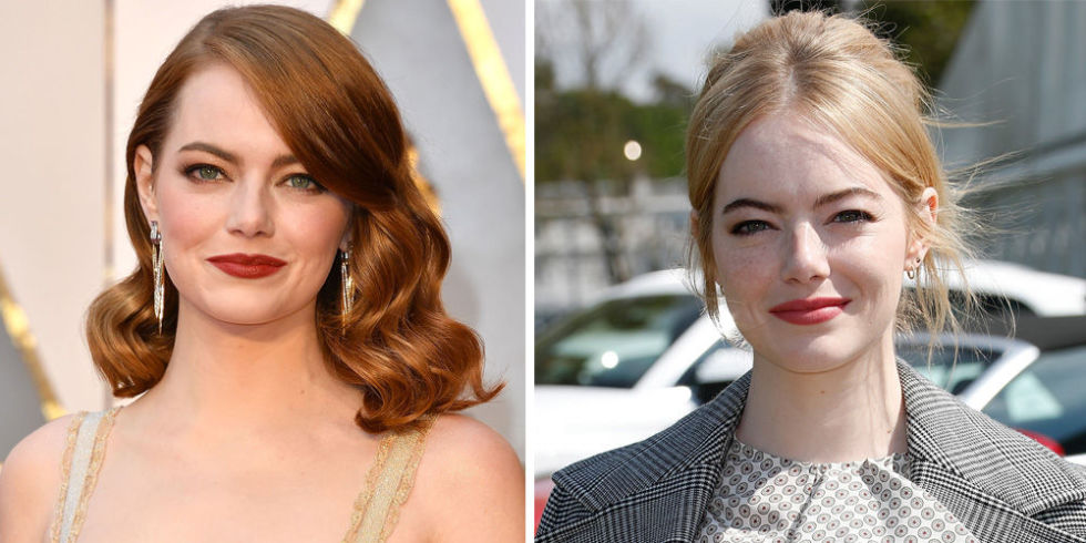 Most people think Emma is a natural-born redhead, but the Lala Landstar is actually blonde. And now, she going back to her roots (literally), debuting bleached strands at a polo game in the UK.