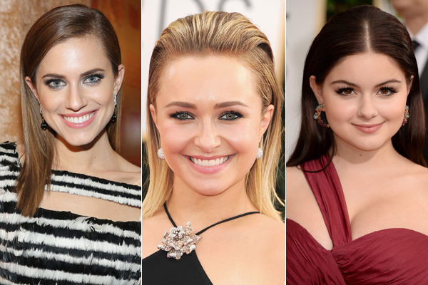 2014 Golden Globes Red Carpet Hair How To Style Straight Hair